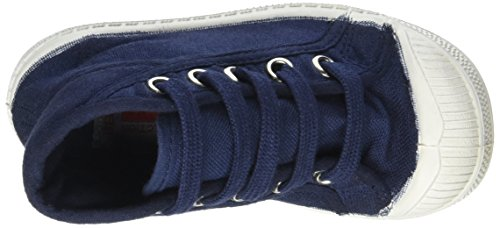 Bensimon Tennis Mid, Baskets Hautes Mixte Enfant Bleu (Marine)