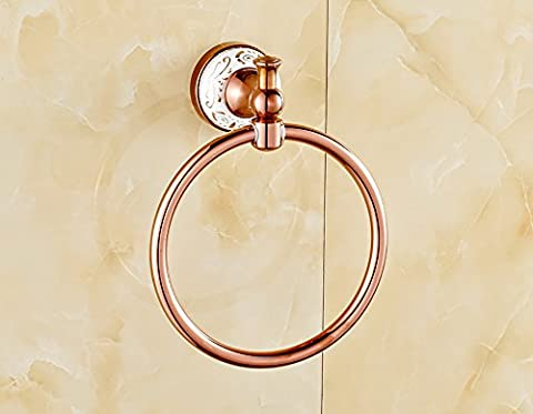 PIGE European-wide copper bold ring rose gold small round towel ring towel rack