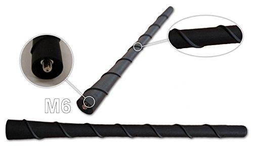Preisvergleich Produktbild Autoantenne Kurzstab Antenne Dachantenne 20 cm/M6 GEWINDE Telefon TV Radio 16V (1)