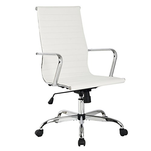 COSTWAY Bürostuhl Schreibtischstuhl Drehstuhl Computertischstuhl Bürodrehstuhl Chefsessel Chefstuhl Stuhl PU höhenverstellbar