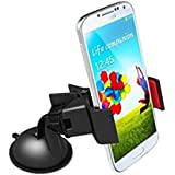 Car Mobile Phone Holder For Smartphones + STABLE With Improved Strong Shock Stabilizer Stand