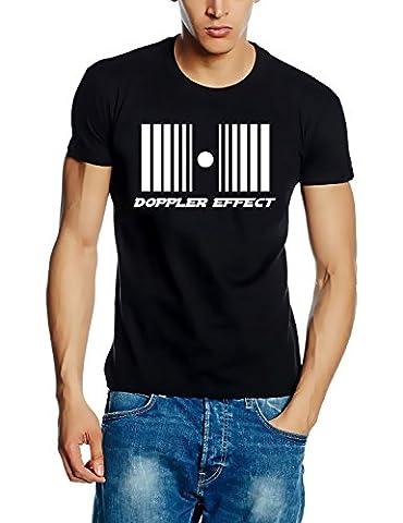 DOPPLER EFFECT - T-Shirt, Schwarz-Weiss Gr.L
