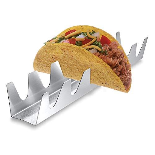 Yissma Taco Halter Edelstahl Taco Ständer Rack Shells für Halten Tacos, Sandwiches, Brot, Hot Dogs und Pfannkuchen -