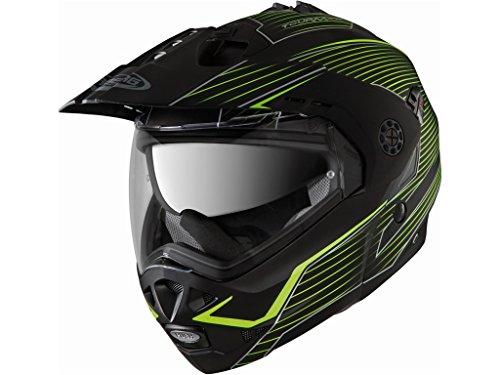 Casco Caberg Tourmax Sonic Black Matt Hivizion Nero Opaco Giallo modulare enduro helmet casque modularhelm (L)