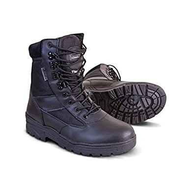 Mens Combat Military Black Army Patrol Hiking Cadet Work High Leather Boot All Sizes (UK 7)