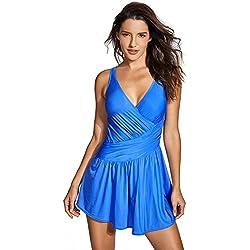 Delimira - con falda de una pieza - Tallas grandes para mujer azul