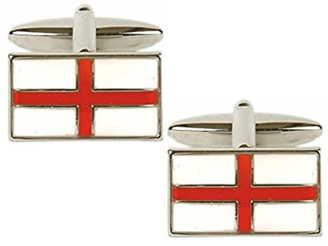 St George's Cross Flag Cufflinks. Premium Quality Cufflinks from the Dalaco Flag Collection. Luxury cuff links from the unsurpassed Dalaco range, with high quality presentation box and pen. Made in England.
