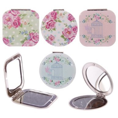 Floral Chintz (Laura Bell Chintz Floral Birdcage Compact Mirror (round with roses) by Laura Bell)