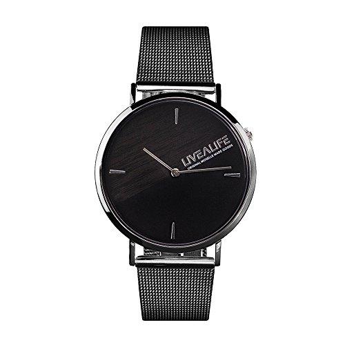 LIVEALIFE Armbanduhr Herren Metallarmband Damen Metall Unisex Mesh Band Quarz Uhrwerk Analog Business minimalistisch Design