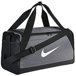 Nike Nk Brsla S Duff Bolsa de Deporte, Hombre, Gris (Flint Grey/Black/White), Talla Única