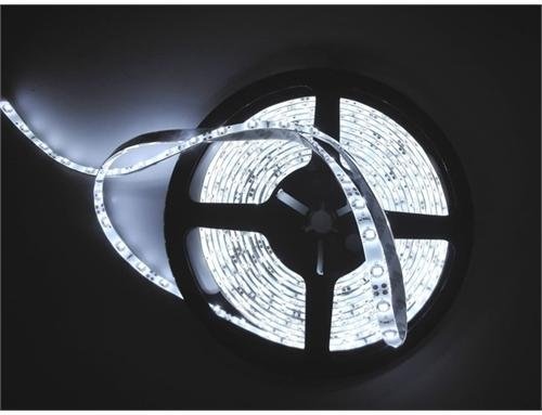 JnDee™ Kaltweiß Cool white Leiste 1M 60 flexiable LED Strip Streifen LED Band Lichtlinie Wasserdicht/ 1 Meter mit 60 SMD 3528 LEDs DC 12V - ideal für Küche, HOME LED-Beleuchtung, BARS, Restaurants, etc. ** GRATISVERSAND!