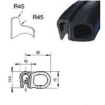 eutras burlete M goma puerta Boot Seal–gama de sujeción 2.0–3,5mm–negro–3M