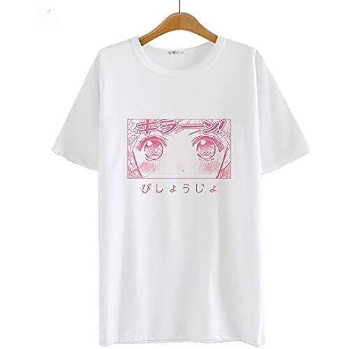 ropa kawaii para los mas guays Himifashion Kawaii Ragazze giapponesi Harajuku animazione Poliest Latte Seta Maglietta