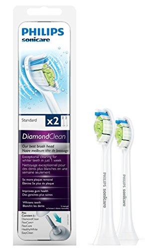 Philips Sonicare HX6062/07 Original DiamondClean Aufsteckbürsten Standard, 2er Pack, weiß