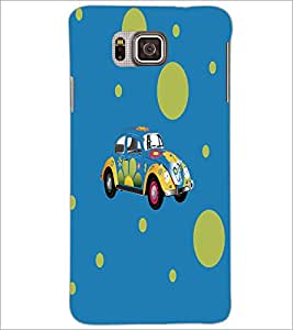 PrintDhaba Floral Car D-5575 Back Case Cover for SAMSUNG GALAXY ALPHA (Multi-Coloured)