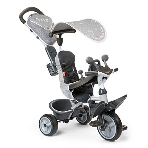 Smoby- Tricycle, 741202, Gris