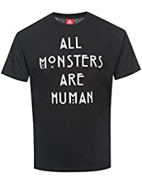 T-shirt American Horror Story All Monsters Are Human cotone nero