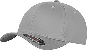 Flexfit 6277 Wooly Unisex Combed Cap, silver, S/M
