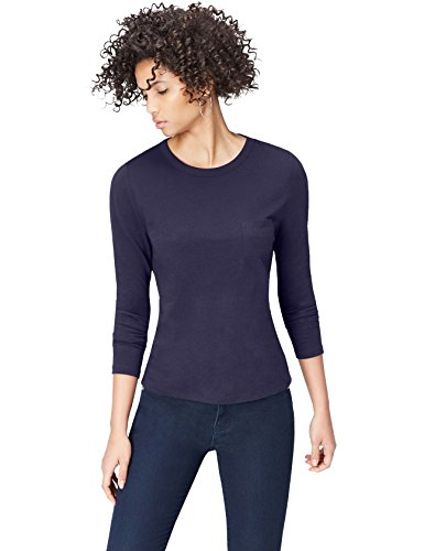 FIND Women's Basic Detail Long Sleeve Top