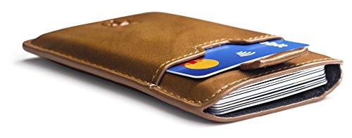 Slim Wallets Portemonnaie BOSTON RFID Schutz 12 Karten Mini Geldbeutel Männer klein Kartenhalter Geldklammer Kartenetui Herren Brieftasche Geldbörse Geldspange Portmonee Kreditkartenetui TRAVANDO