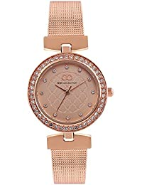 Inara By Gio Collection Analog Rosegold Dial Women Watch- G2077-55