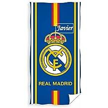 Real Madrid- Toalla De Baño y Playa Personalizada con nombre Bordado- 75 x 150