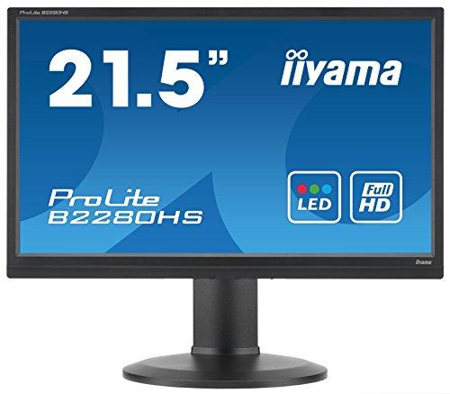 iiyama B2280HS-B1 - Iiyama ProLite B2280HS (21.5 inch) LED Backlit LCD Monitor 1000:1 250cd/m2 (1920x1080) 5ms VGA/DVI/HDMI (Black)