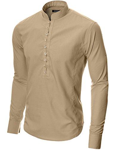 MODERNO Freizeit Langarm Herrenhemd (MOD1431LS) Beige