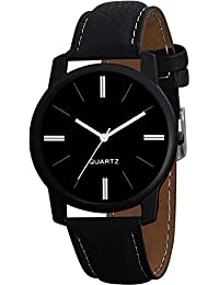 Kairos Analogue Black Dial Leather Strap Professional Wrist Watch - For Men