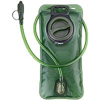 WADEO Trinkblase, 2l, auslaufsichere Wasserflasche, 2Liter, für Trinkrucksack mit Reinigungsset für-bite Valve,