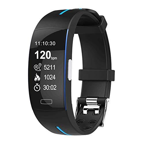 fitness tracker Orologio YUNYIN, orologio fitness tracker con cardiofrequenzimetro, touch screen ultrasottile e cinturino, tracker attività indossabile impermeabile per bambini e uomini