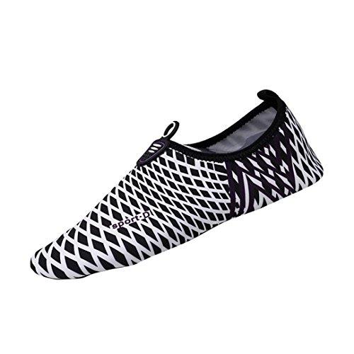 UFACE Paar Füße Yoga Schuhe Schwimmen Schuhe Quick-Dry Wasser Socken Schwimmen Surf Yoga Sport Haut Schuhe (42, Schwarz -4)