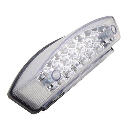 GOOFIT Universal color blanco/gris/rojo plástico cola luz indicador Indicador Bombilla Luz trasera...
