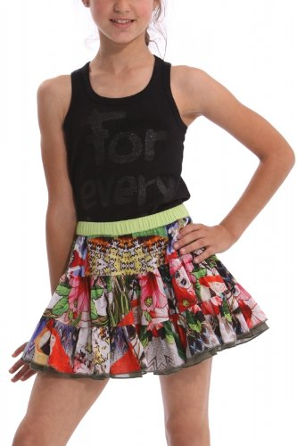 DESIGUAL – Falda Reversible, Evermann, Chica, Color: Multi,Talla: 14