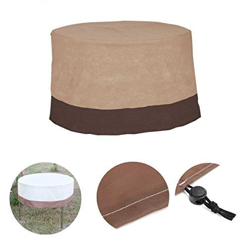 LaDicha 48Inch Ronda Grande Impermeable Patio Al Aire Libre Mesa Redonda Cubierta Silla Protección De Muebles