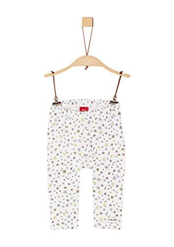 s.Oliver Baby-Mädchen 65.902.75.2415 Leggings, Elfenbein (Ecru AOP 02a3), Herstellergröße: 86/REG