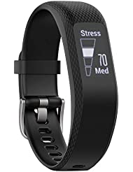 Garmin Vivosmart 3 Smart Activity Tracker with Wrist Based Heart Rate and Fitness Monitoring Tools - S/M, Black