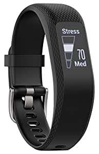Garmin Vivosmart 3 Fitness Tracker con Sensore Cardio al Polso, Schermo Touch Invisibile e Smart Notification, Regular, Nero