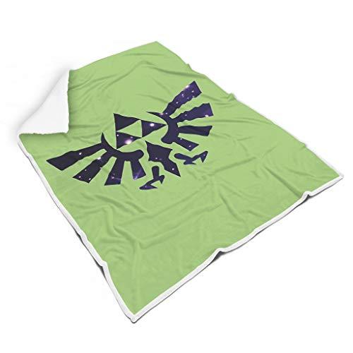 O5KFD&8 Blanket Zelda-Logo Thema Gedruckt Prämie Riese wirft Robe - Spiel Liebhaber Komfortabel Passt Siesta Verwenden White 150x200cm