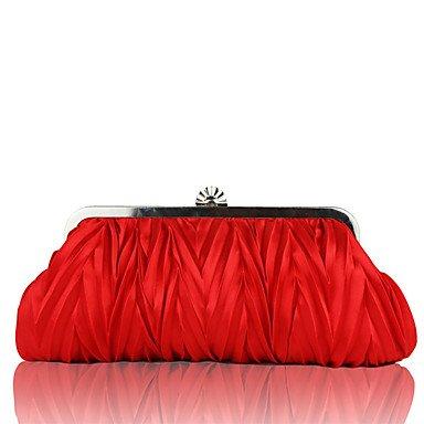WZW Donna Borsa da sera Materiale speciale Per tutte le stagioni Matrimonio Serata/evento Formale Con balze Catenina Con fermaglioOro Bianco . black red