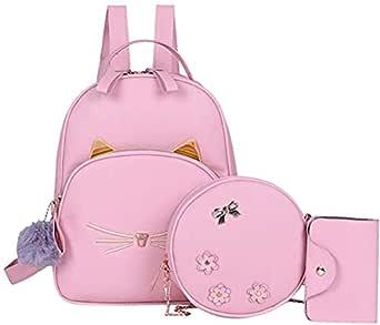 Alice Girls 3-PCS Fashion Cute Mini Leather Backpack sling & pouch set for Women//Rakhi gift for Sister