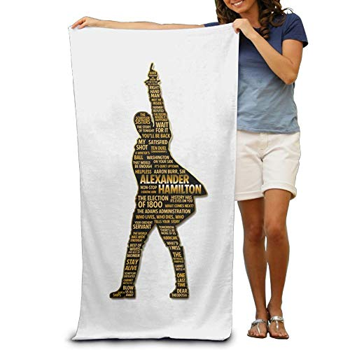VTXWL Alex Ander Ham Ilton Adult Beach Towels Fast/Quick Dry Machine  Washable Lightweight Absorbent Plush Multipurpose Use Quality Towels For