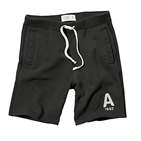 Abercrombie - Homme - A&F Classic Fit Fleece Shorts Bermuda Short - Taille Medium - Dark Gris (616308450)