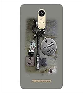 PrintDhaba Key D-2270 Back Case Cover for XIAOMI REDMI NOTE 3 (Multi-Coloured)