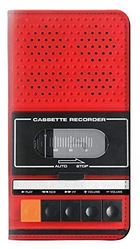 Innovedesire Red Cassette Recorder Graphic Flip Hülle Tasche Klappetui für Sony Xperia 10