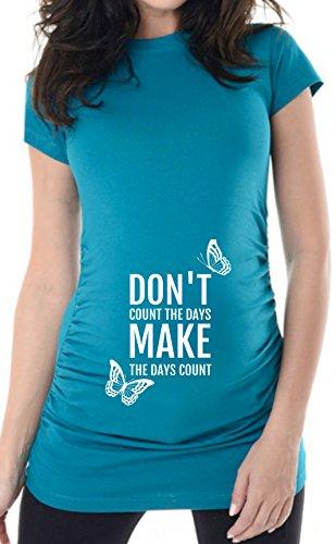 bellytime Türkis Make The Day, 38, Umstands T-Shirt/Schwangerschafts