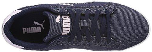 Puma - Puma Smash Denim, Scarpe da ginnastica Donna Blu (Blau (peacoat-peacoat 01))