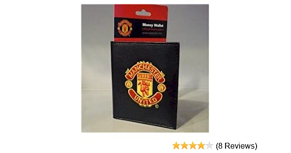e74dc4c98c9 Official Manchester United FC Leather Look Embroidered Money Wallet   Amazon.co.uk  Kitchen   Home