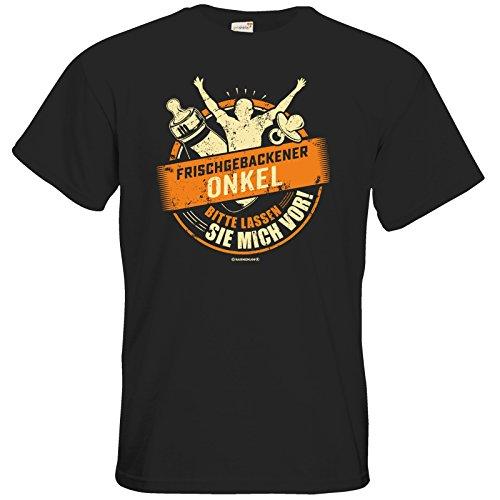 getshirts - RAHMENLOS® Geschenke - T-Shirt - Frischgebackener Onkel lassen Sie mich vor Farbset2 Black