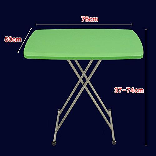 LVZAIXI Table Pliante Ronde de Table de Bistro (Couleur : Vert)